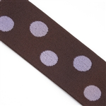 Light Pink & Brown Polka Dot 1 1/2 Inch Elastic - Reversible
