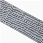 "Light Gray Ripple Elastic - 3"" Wide"