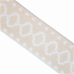 "Cream and White Aztec Elastic - 1 5/8"" wide"