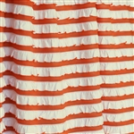 Creamsicle Orange and Cream Striped Ruffle Fabric