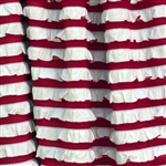 Peppermint Stripe Ruffle Fabric