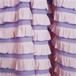 Cheshire Pink & Purple Striped Ruffle Fabric