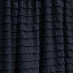 Black cascading ruffle fabric