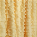 Butter Yellow Cascading Ruffle Fabric