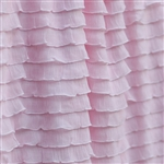 Light Pink Cascading Ruffle Fabric- soft, baby pink