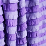 """Pansy Purple"" Striped Ruffle Fabric - in super soft & cozy knit"