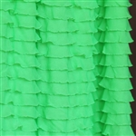 Screamin' Green Neon Cascading Ruffle Fabric