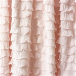 Vintage Pink Cascading Ruffle Fabric