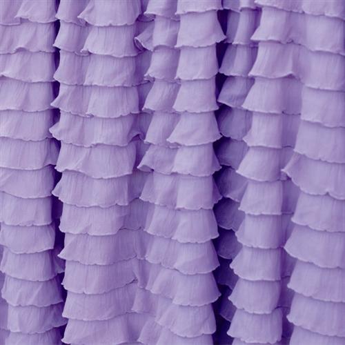 Purple ruffle curtains