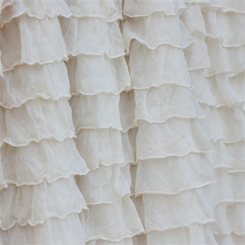Ivory 2 Inch Ruffle Fabric