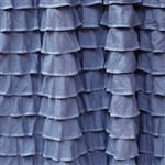 Moonstone Blue Boho Chic 2 Inch Ruffle Fabric