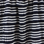 Navy & Cream Nautical Stripe 2 Inch Ruffle Fabric