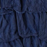 Sailor Blue 2 Inch Ruffle Fabric