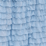 Sky Blue 2 Inch Ruffle Fabric