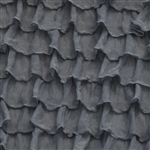 Smoke 2 Inch Ruffle Fabric