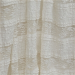 "Cream ""Ruffles and Lace"" Ruffle Fabric"