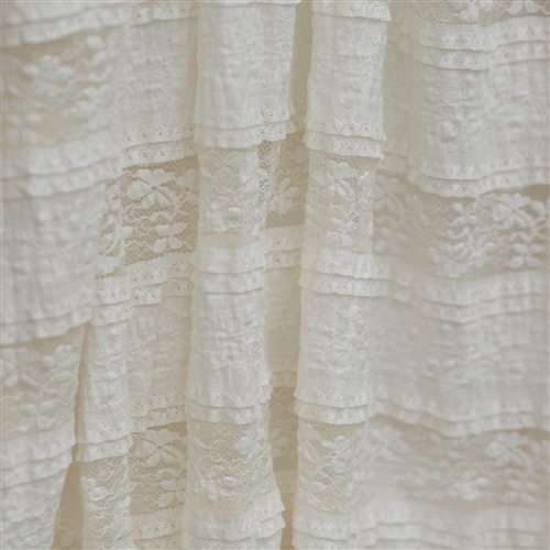 Our wholesale ruffled lace trim is perfect for a variety of fabric projects and sewing projects. Ruffled lace trim is has a scalloped edge and is used to outline the border of a design. Our wholesale ruffled trim comes with a beautiful satin top with ruffled lace base.