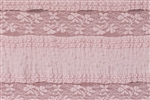 "Heirloom Pink ""Ruffles and Lace"" Ruffle Fabric"