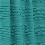 "Teal ""Ruffles and Ridges"" Ruffle Fabric"