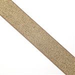 Elastic waistband gold metallic, 7/8""