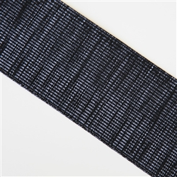 """Peppered"" Black and White Elastic - 3"" wide"
