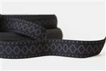 "Black and Gray Aztec Elastic - 1 5/8"" wide"