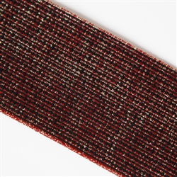 "Garnet, Black and Gold Elastic - 3"" Wide"