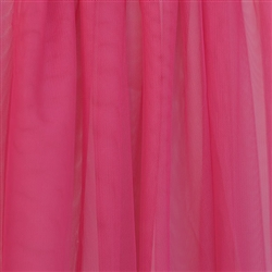 Hot Pink Tulle  - Confetti Collection by Ruffle Fabric