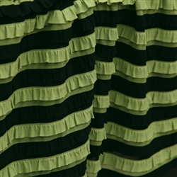 Green with Envy Ruffle- Black & Green Striped