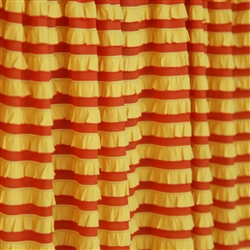 """Candy Corn"" Yellow and Orange Striped Ruffle"