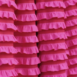 Sweethearts Hot Pink and Red Cascading Ruffle Fabric
