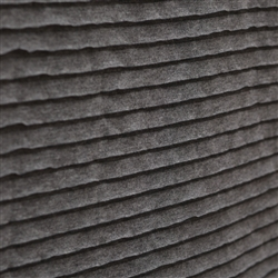Graphite Gray Smooth Knit Ruffle Fabric