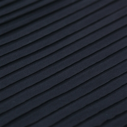 Black Smooth Knit Ruffle Fabric