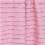 Flamingo Pink Smooth Knit Ruffle Fabric