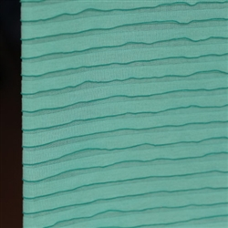 Sweet Mint Green Smooth Knit Ruffle Fabric