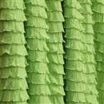 Chartreuse green cascading ruffle fabric