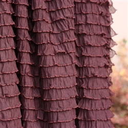 Chocolate Brown Cascading Ruffle Fabric