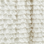 Frilly Perfect Cream Ruffle Fabric- Double Stretch