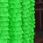 Frilly Day-Glo Green NEON Ruffle Fabric- Double Stretch