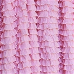 Frilly Perfect Pink Ruffle Fabric- Double Stretch