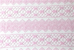 Light Pink Chevron Lace