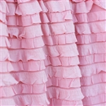 """Pansy Pink"" Striped Ruffle Fabric - in super soft & cozy knit"