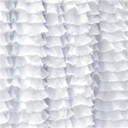 Frilly Perfect White Ruffle Fabric- Double Stretch