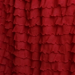 Ruby Red Cascading Ruffle Fabric