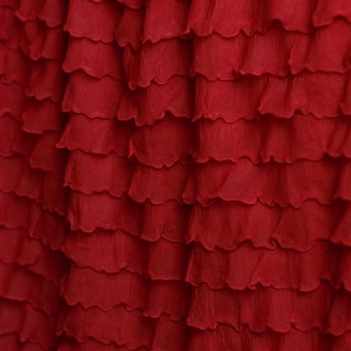 Red Cascading Ruffle Fabric