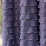 Steel Orchid Cascading Ruffle Fabric