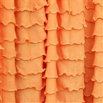 Tangerine Cascading by Ruffle Fabric