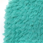 "Teal ""Layers of Luxe"" Pleated Tulle Ruffle"