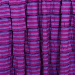 Fuchsia & Purple Striped Ruffle Fabric