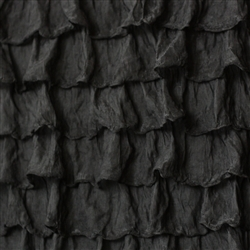 Black 2 Inch Ruffle Fabric